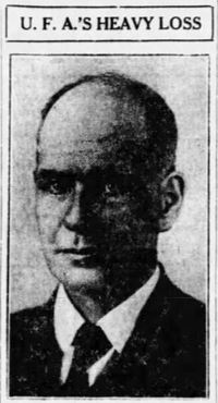 Original title:  Percival Baker. From the Edmonton Journal, 20 July 1921, page 1.