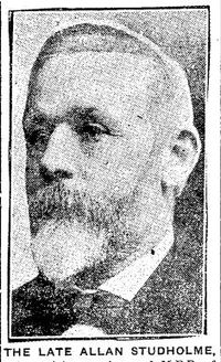Original title:  Allan Studholme. Toronto Daily Star, 28 July 1919, page 2.