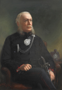 Titre original :  Image courtesy of The Queen's Own Rifles of Canada Regimental Museum and Archives. Lieutenant Colonel W.S. Durie – First Commanding Officer, 1860-1866. The original 43″ x 30″ oil on lined canvas painting by celebrated Canadian portrait artist John Wycliffe Lowes Forster, hangs in the Queen's Own Rifles Officers' Mess. Photo is by Christopher Lawson, June 17, 2010.