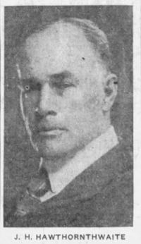 Original title:  J.H. Hawthornthwaite. From: The Victoria Daily Times (Victoria, British Columbia), 1 Nov 1926, Page 1.