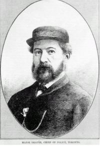 Original title:  Major Draper, Chief of Police, Toronto. This image is from the Canadian Illustrated News, 1869-1883, held in the Library and Archives Canada.
