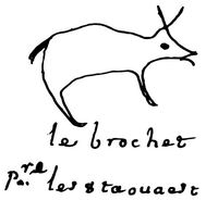 Titre original :  Marque: un ours. Le chef Kinongé, dit le Brochet, signe le traité. Date: 4 August 1701. Source: Vectorisation à partir de photos des Archives nationales de France publiées sur le site http://grandepaix.pacmusee.qc.ca. Image posted to Wikimedia by user Pierre5018.