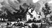 Titre original :  'Joseph Willcocks band of American and pro-American Canadians living in Upper Canada engaged in widespread looting and burning farmhouses (public domain).'