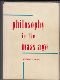 Titre original :  PHILOSOPHY IN THE MASS AGE. BY GEORGE P. GRANT  | eBay