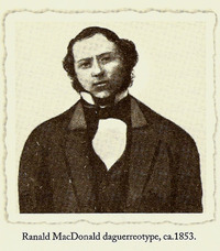Original title:  Ranald MacDonald, 1853