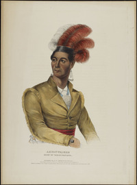 Titre original :  Ahyouwaighs, Chief of the Six Nations  [John Brant]