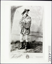 Original title:  James M. Walsh in western style garb, before 1884.
