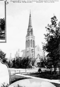 Original title:  Augustine Church (Presbyterian), River Avenue, Fort Rouge.