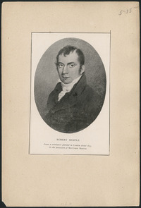 Original title:  Robert Semple (1766-1816) from a miniature painted in London about 1815.
