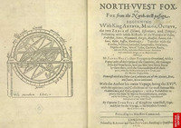 Original title:  Image of globe and title page of Foxe's book