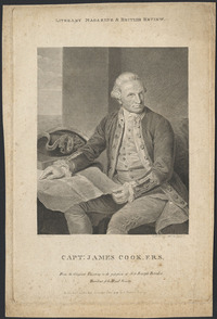 Original title:  Capt. James Cook from an original painting of Sir Joseph Banks.