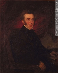 Original title:  Painting Portrait of Archibald Campbell Théophile Hamel About 1852, 19th century Oil on canvas 118.3 x 99.3 cm Gift of Dr. George Cantlie M981.213.1 © McCord Museum Keywords:  male (26812) , Painting (2229) , painting (2226) , portrait (53878)