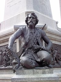 Original title:    Description Français : Charles Le Moyne au Monument à Maisonneuve, Place d'Armes, Montréal Date 23 May 2011 Source Own work Author Jean Gagnon