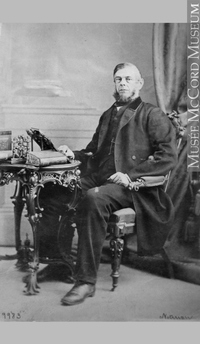 Original title:  Photograph Benjamin Lyman, Montreal, QC, 1863 William Notman (1826-1891) 1863, 19th century Silver salts on paper - Albumen process 8.5 x 5.6 cm Purchase from Associated Screen News Ltd. I-9983.1 © McCord Museum Keywords:  male (26812) , Photograph (77678) , portrait (53878)