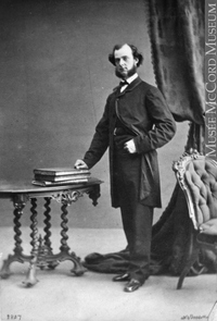 Original title:  Photograph Mr. H. Dinning, Montreal, QC, 1862 William Notman (1826-1891) 1862, 19th century Silver salts on paper mounted on paper - Albumen process 8.5 x 5.6 cm Purchase from Associated Screen News Ltd. I-2837.1 © McCord Museum Keywords:  male (26812) , Photograph (77678) , portrait (53878)