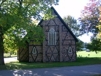 Original title:    Description English: Bishop Fauquier Memorial Chapel, Sault Ste. Marie, Ontario. This photo is of a cultural heritage site in Canada, number 3313 in the Canadian Register of Historic Places. Date 26 September 2012 Source Own work Author Fungus Guy