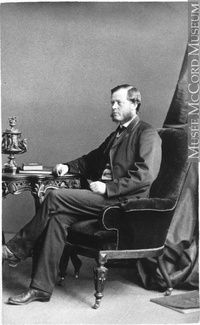 Original title:  Photograph Thomas Moss, Toronto, ON, about 1870 Ewing R. D. about 1870, 19th century Silver salts on paper mounted on card - Albumen process 8 x 5 cm Gift of Mr. M. S. Reford MP-1975.67.37 © McCord Museum Keywords:  male (26812) , Photograph (77678) , portrait (53878)