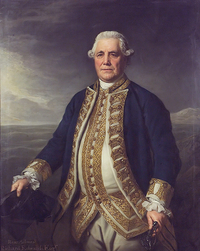 "Titre original :    Description English: ""Admiral Richard Edwards, d.1794,"" oil on canvas, painted by the British artist Nathaniel Dance. 1270 mm x 1016 mm. Courtesy of the National Maritime Museum, Greenwich, London. Date 27 April 2011(2011-04-27) Source National Maritime Museum [1] Author Nathaniel Dance"
