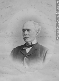 Original title:  Photograph James Williamson, Montreal, QC, 1880 Notman & Sandham 1880, 19th century Silver salts on paper mounted on paper - Albumen process 15 x 10 cm Purchase from Associated Screen News Ltd. II-56056.1 © McCord Museum Keywords:  male (26812) , Photograph (77678) , portrait (53878)