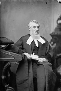 Titre original :  Hon. Robert Duncan Wilmot (Speaker of the Senate) b. Oct. 16, 1809 - d. Feb. 13, 1891.