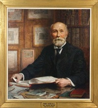 "Original title:    Description James Bain (1842-1908) dedicated his life to the book trade as a bookseller, publisher, collector and librarian. In 1902, he was recognized by Trinity University (Toronto) with the institution's highest honour, Doctor of Civil Law, for ""distinguished service in the cause of education."" He was born in London, England in 1842, and moved with his family to Toronto in 1846. He worked in the book trade from the age of 14, first at his father's Toronto bookshop, and later in 1866 with Toronto publisher James Campbell and Sons. He travelled to England and worked for various booksellers and publishers. During this time he and his brother Robert purchased significant historical materials. At this time he also entered into an agreement with another publishing firm, which then became J.C. Nimmo and Bain. Bain returned to Toronto in 1881 to manage Campbell's new publishing firm,"