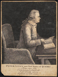 Titre original :  Peter Livius, now Chief Justice of Quebec.