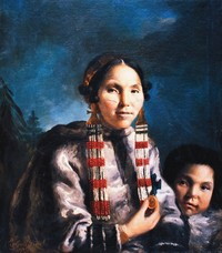 Titre original :    Description English: Painting of Inuit Mikak and her son Tukauk. Painting by John Russell in 1769, commissioned by Joseph Banks. This painting currently hangs in the Institute of Cultural and Social anthropology, Georg-august University of Göttingen, Germany Date 1769 Source http://pubs.aina.ucalgary.ca/arctic/Arctic62-1-45.pdf Author Painted by John Russell in 1769