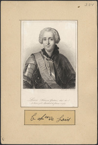 Original title:  Levis (Francois Gaston, duc de)