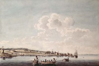 "Original title:    Description English: A South-East View of Cataraqui (Kingston). A replica in the John Ross Robertson Collection, Toronto Public Library, No. 1355, indicates by an inscription that Peachy copied this view from an original ""Taken by Louis Kotte. 1783"". Watercolour and pen and ink over pencil on paper. Date August 1785 Source This image is available from Library and Archives Canada under the reproduction reference number C-001511 and under the MIKAN ID number 2833908 This tag does not indicate the copyright status of the attached work. A normal copyright tag is still required. See Commons:Licensing for more information. Library and Archives Canada does not allow free use of its copyrighted works. See Category:Images from Library and Archives Canada. Author Peachey, James (1773-1797) Permission (Reusing this file) Public domainPublic domainfalsefalse This image (or other media file)"