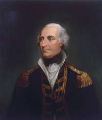 Titre original :    Description English: Vice-Admiral Sir Roger Curtis (1746-1816) oil on canvas 76 x 58.5 cm Date circa 1800 Source Royal Museums Greenwich Author British school of the 18th century