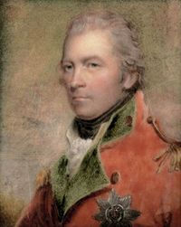 Titre original :    Description English: Charles Lennox, 4th Duke of Richmond and Lennox KG, in scarlet coat with green facings and gold epaulettes, wearing the breast-star of the Order of the Garter, signed and dated 'Copied by H Collen 1823', Date 1823(1823) Source http://www.christies.com/LotFinder/lot_details.aspx?intObjectID=4947788 Author Henry Collen (1797–1879) after Henry Hoppner Meyer Permission (Reusing this file) PD