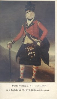 Titre original :    Description English: Ranald MacKinnon, a Captain in the 84th Highland Regiment Date Source Own work Author Hantsheroes