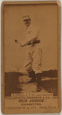 Titre original :    Baseball cards from the Benjamin K. Edwards Collection at the Library of Congress Series N172: Old Judge (Goodwin & Company, 1887) Tip O'Neill – left fielder, St. Louis Browns Call number: LOT 13163-05, no. 416; Digital ID: bbc 0488f   This image is available from the United States Library of Congress's Prints and Photographs division under the digital ID bbc.0488f. This tag does not indicate the copyright status of the attached work. A normal copyright tag is still required. See Commons:Licensing for more information. العربية | Česky | Deutsch | English | Español | فارسی | Suomi | Français | Magyar | Italiano | Македонски | മലയാളം | Nederlands | Polski | Português | Русский | Slovenčina | Türkçe | 中文 | ‪中文(简体)‬ | +/−
