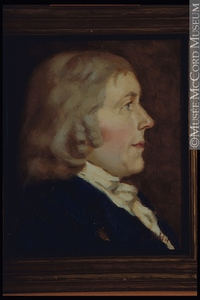 Titre original :  Painting Portrait of Isaac Todd, (about 1742-1819) Donald Hill About 1922, 20th century 30.2 x 25.5 cm Gift of Mr. David Ross McCord M1595 © McCord Museum Keywords:  male (26812) , Painting (2229) , painting (2226) , portrait (53878)