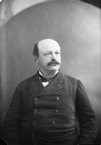 Titre original :  Hon. Sir Alexandree Lacoste, Q.C. (Senator) b. Jan. 12, 1842 - d. 1923.