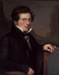Original title:  Peter Rindisbacher (1806-1834). Oil painting by George Markham, 1830. Missouri History Museum
