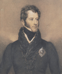 Original title:    Description English: Charles Bagot (1781-1843) wearing the Order of Bath breast Star black and white chalk on brown paper 75 x 62.3 cm inscribed verso: The Right honbl/Sir Charles Bagot K.B./Ambassador to the King of the/Netherlands. Born 1781/1825/drawn by Wilkin/...../London Date 1825(1825) Source Christie's Author Francis William Wilkin (1791-1842)