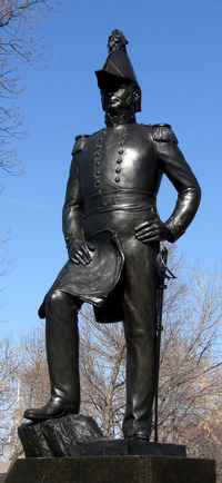 Titre original :    Description English: Lieutenant-Colonel John By statue scupted by Joseph-Émile Brunet, Major's Hill Park, Ottawa, Ontario, Canada Date 7 March 2010 Source Own work Author D. Gordon E. Robertson