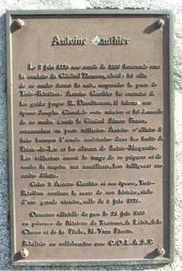 Original title:    Description Français : Plaque commémorative à Antoine Gagnon de Trois-Rivières Date 2005(2005) Source Photography Author Daniel Robert Permission (Reusing this file) The copyright holder of this file, Daniel Robert, allows anyone to use it for any purpose, provided that the copyright holder is properly attributed. Redistribution, derivative work, commercial use, and all other use is permitted. Attribution: Daniel Robert Attribution