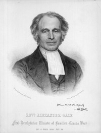 Original title:  Revd Alexander Gale; Author: Schenck and McFarlane (Edinburgh) after A. Hoehnisch; Author: Year/Format: 1850, Picture