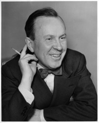 Original title:  Lester B. Pearson with a pencil.