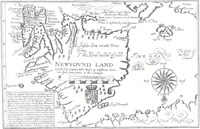 Titre original :  Newfovnd Land [cartographic material] / described by Captaine John Mason. -- Mason, John, 1586-1635