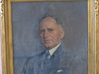 Titre original :  W.J. Pentland, Wylie Grier portrait. Image courtesy of the grandchildren of W.J. Pentland.