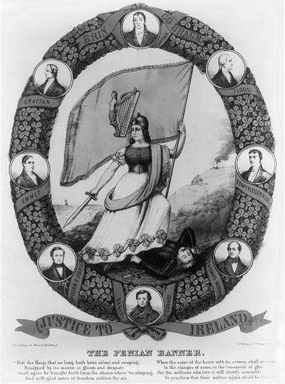 Original title:  The Fenian banner - Library of Congress