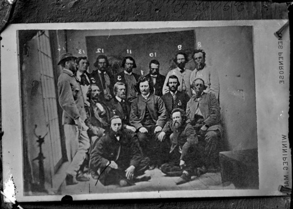 Original title:  MIKAN 3435492 MIKAN 3435492: Louis Riel and his Council, 1869 (Copy) Aug. 1877. [164 KB, 1000 X 711]
