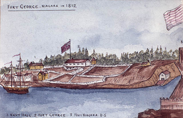 Original title:  Fort George, Niagara, 1812.