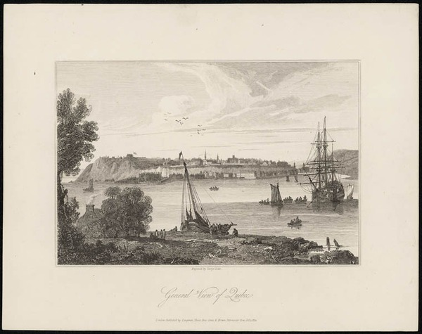Original title:  General View of Quebec.