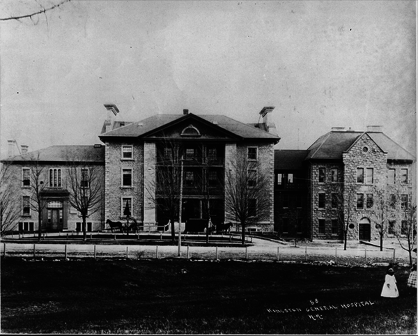 Titre original :  The first Parliament in Canada, Kingston General Hospital