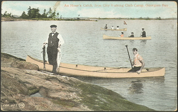 Titre original :  An hour's catch, Iron City Fishing Club Camp, Georgian Bay  : Toronto Public Library