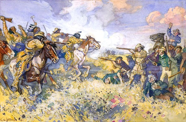 Titre original :  File:The Fight at Seven Oaks.jpg - Wikimedia Commons
